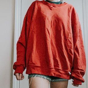 vintage red russell athletics crewneck sweatshirt